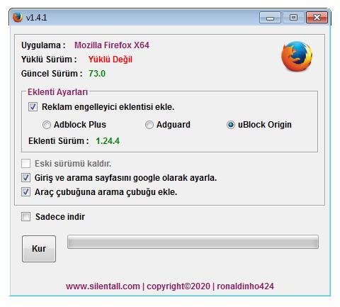 Mozilla Firefox Çevrimiçi Yükleyici 1.4.1 cover