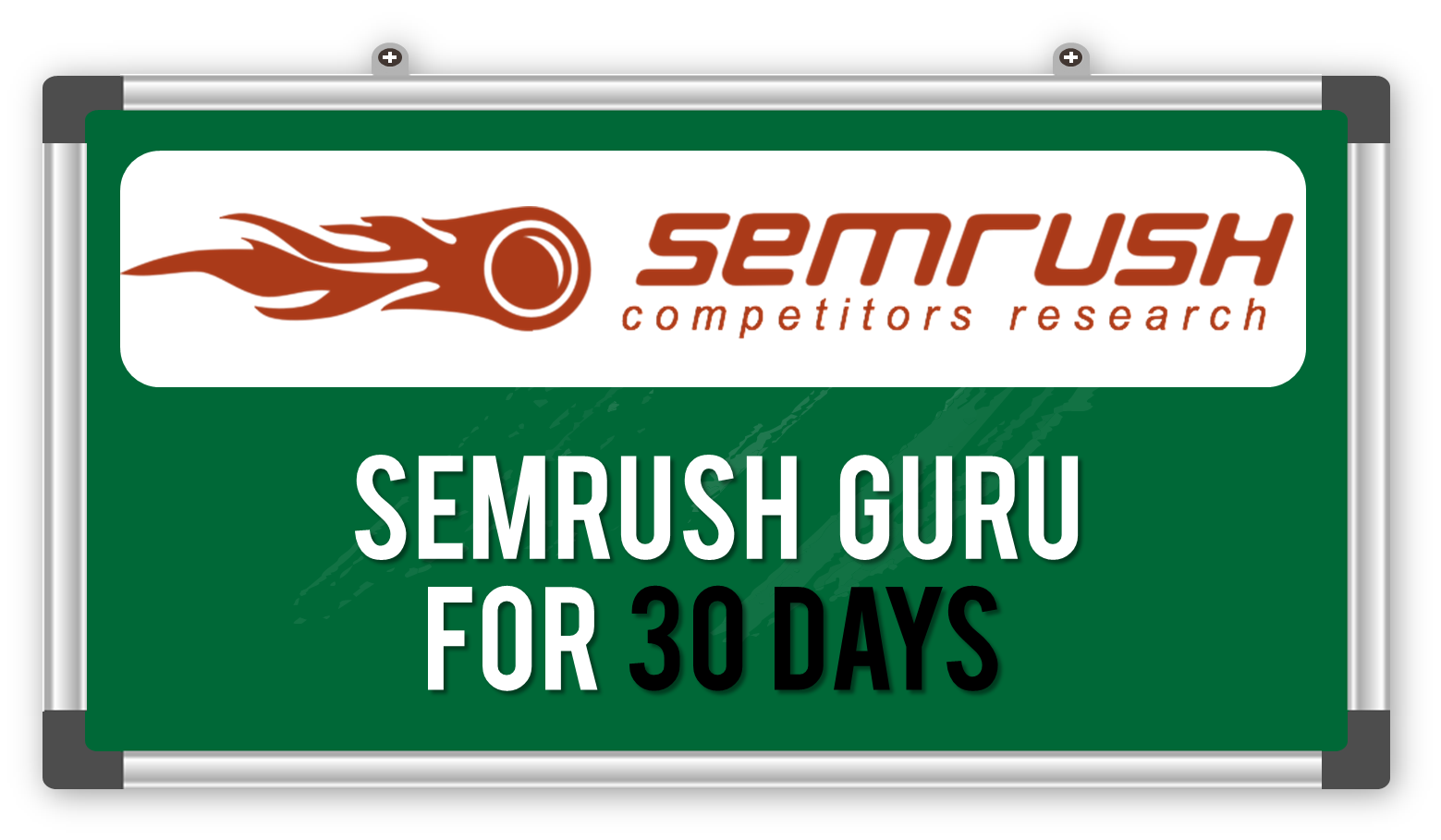GET SEMrush GURU for 30 days Private Account   Cheapest Pric