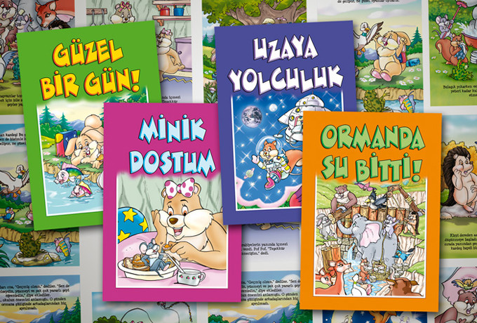 4 ADET BASKIYA HAZIR ÇOCUK KİTABI TASARIMI VE ÇİZİMİ (ACİL SATIYORUM) - Türkiye Geneli