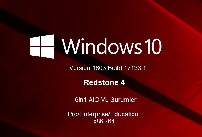 Windows 10 Version 1803 - Redstone4 6in1 AIO  [Apr 2018] build 17133.1