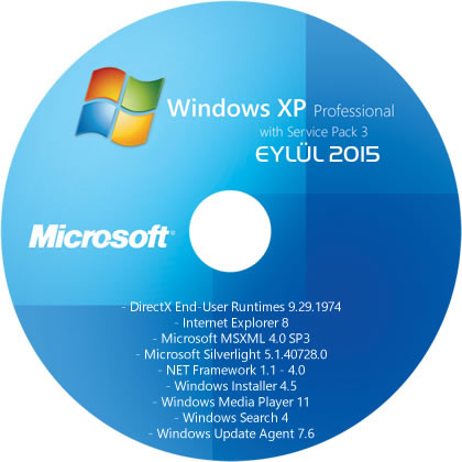 Windows XP Professional SP3 (x86) TR - [18 EYLÜL 2015]