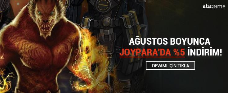 Agustos Boyunca Joypara'da %5 Indirim !