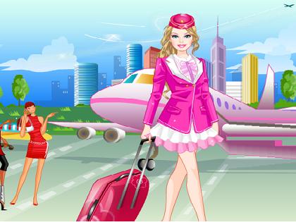 Hostes Barbie Oyunu