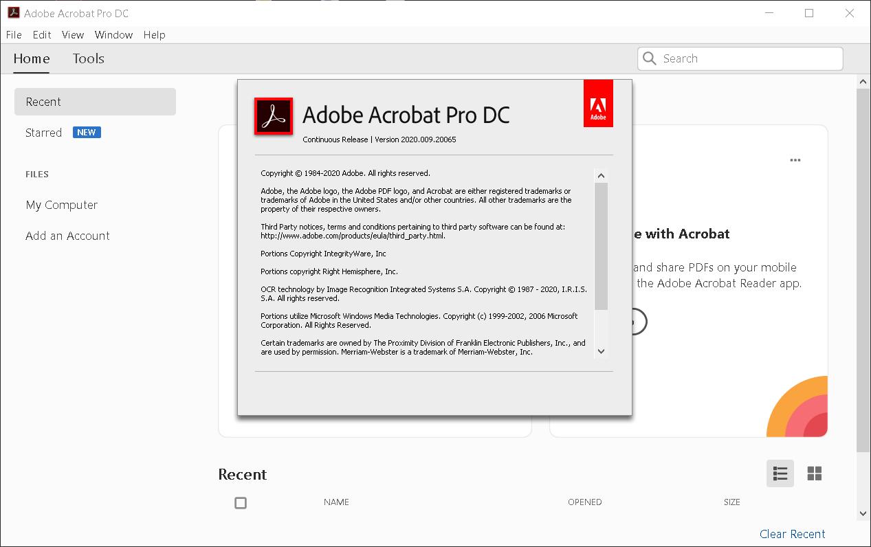 Adobe Acrobat Pro DC 2020.009.20065   Katılımsız