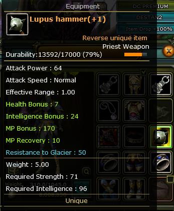 +1 Rebirt Lupus Hammer