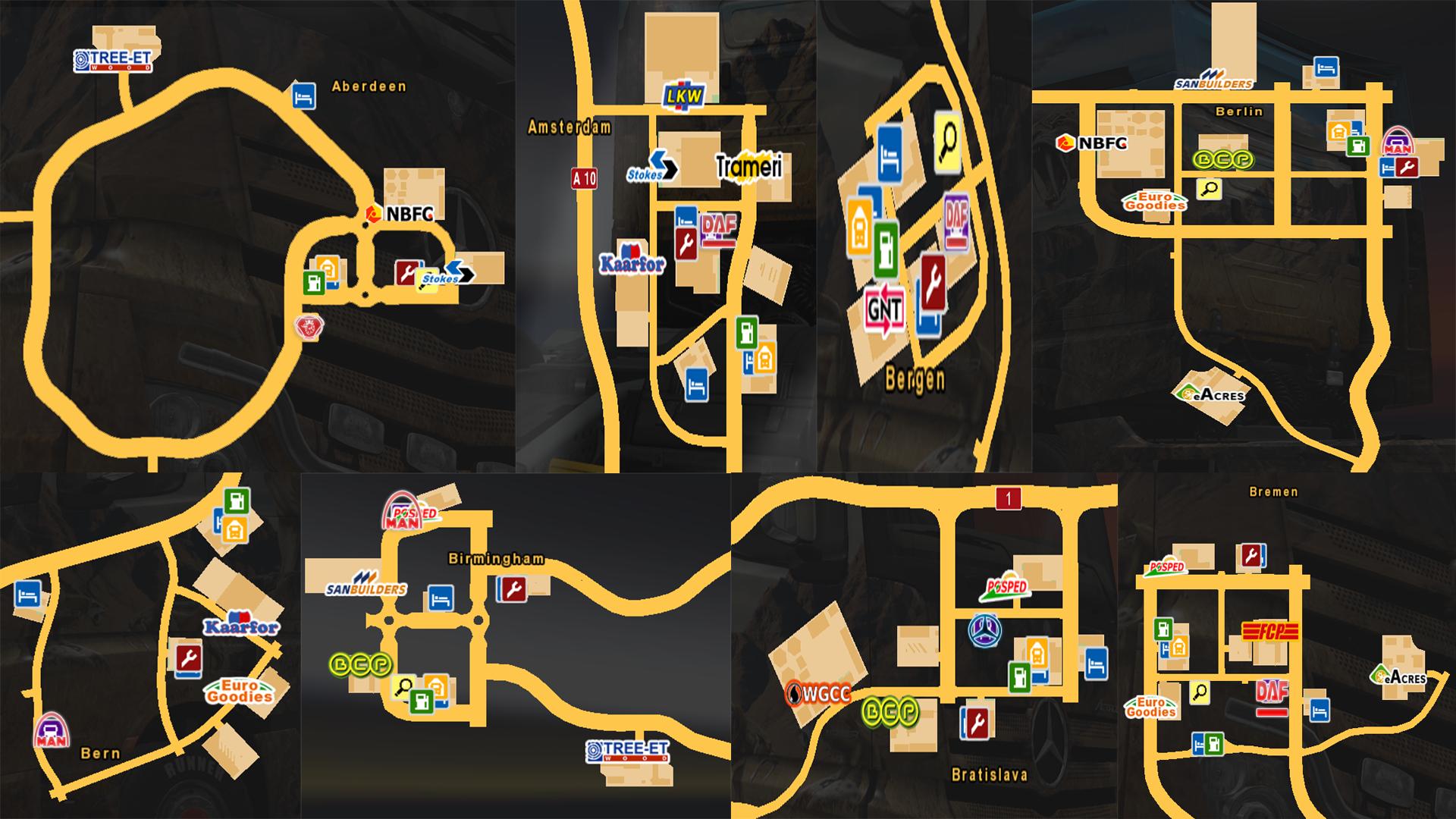 tır galerilerinin harita Üzerindeki yerleri   world of trucks