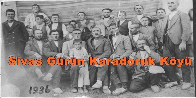 Sivas Gürün Karadoruk Köyü
