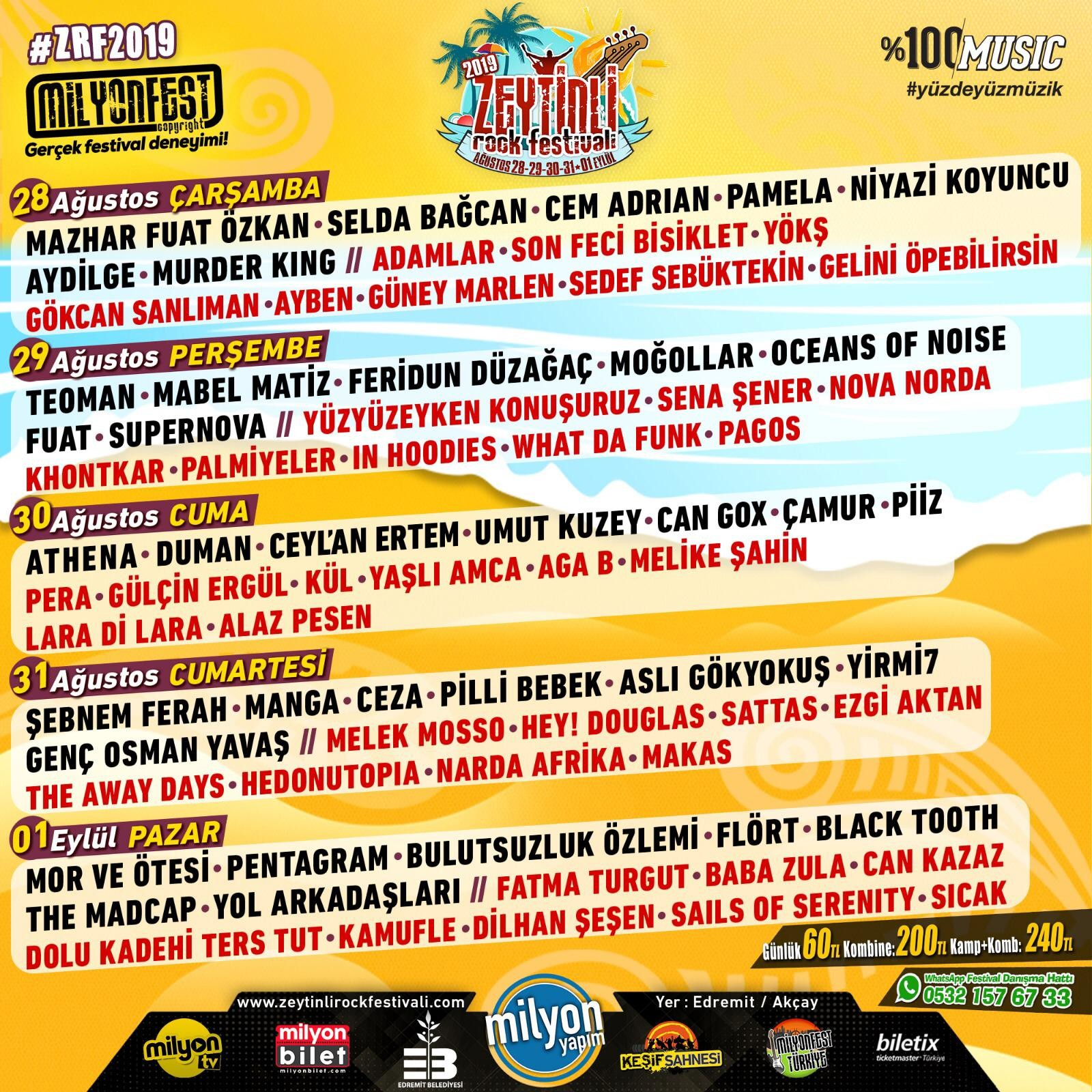 Türkiye'nin En Büyük Festivali: Zeytinli Rock Festivali 28 Ağustos'ta Başlıyor!