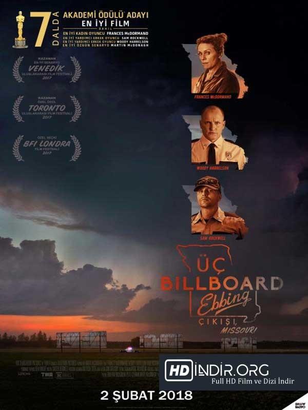 Üç Billboard Ebbing Çıkışı Missouri indir (2018) Full HD Tek link