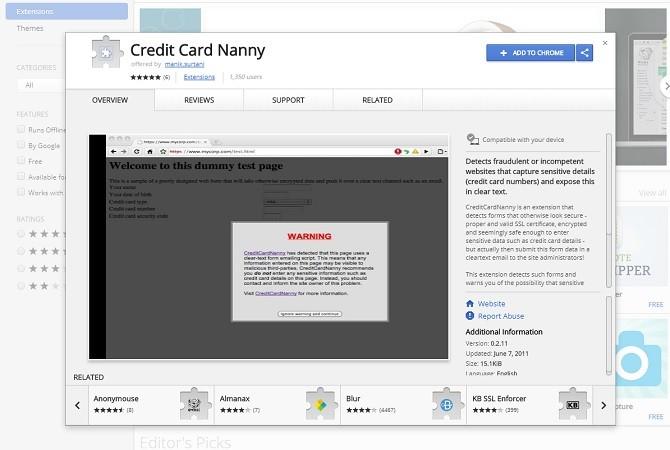 Credit Card Nanny