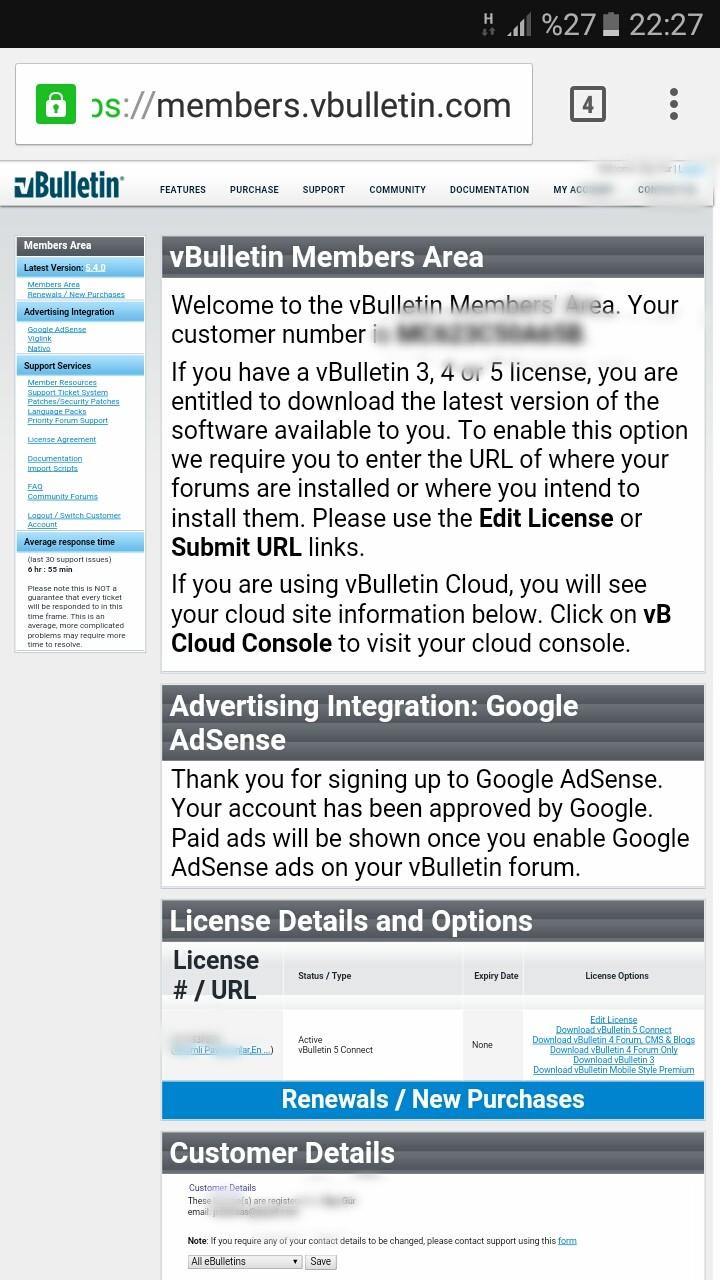 Satılık vBulletin Blog + 3,4,5 İndirebilen Lisans - R10 net