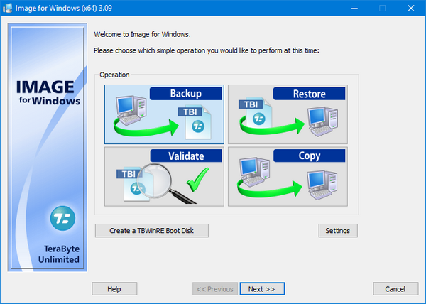 TeraByte Drive Image Backup & Restore Suite 3.12 Full İndir