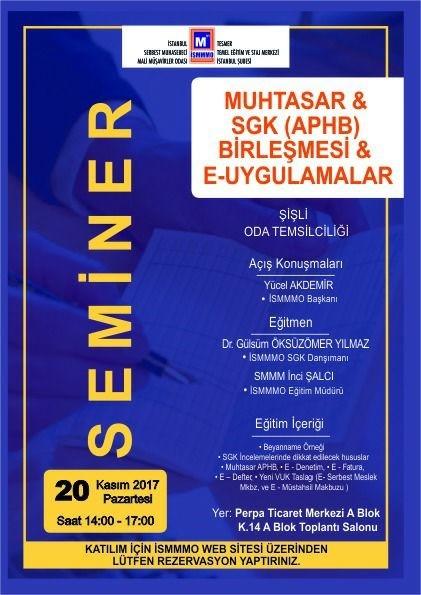 İstanbul SMMM Odası Şişli İlçe Temsilciliğinde;
