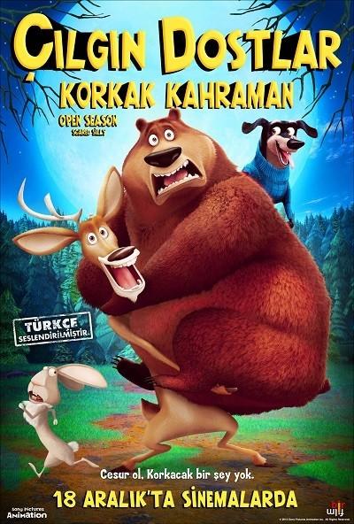 Çılgın Dostlar 4 : Korkak Kahraman - Open Season: Scared Silly | 2015 | BRRip XviD | Türkçe Dublaj