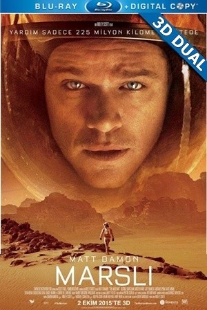 Marslı 3D - The Martian 3D | 2015 | BluRay Hafl-SBS 1080p | DuaL TR-EN - Tek Link