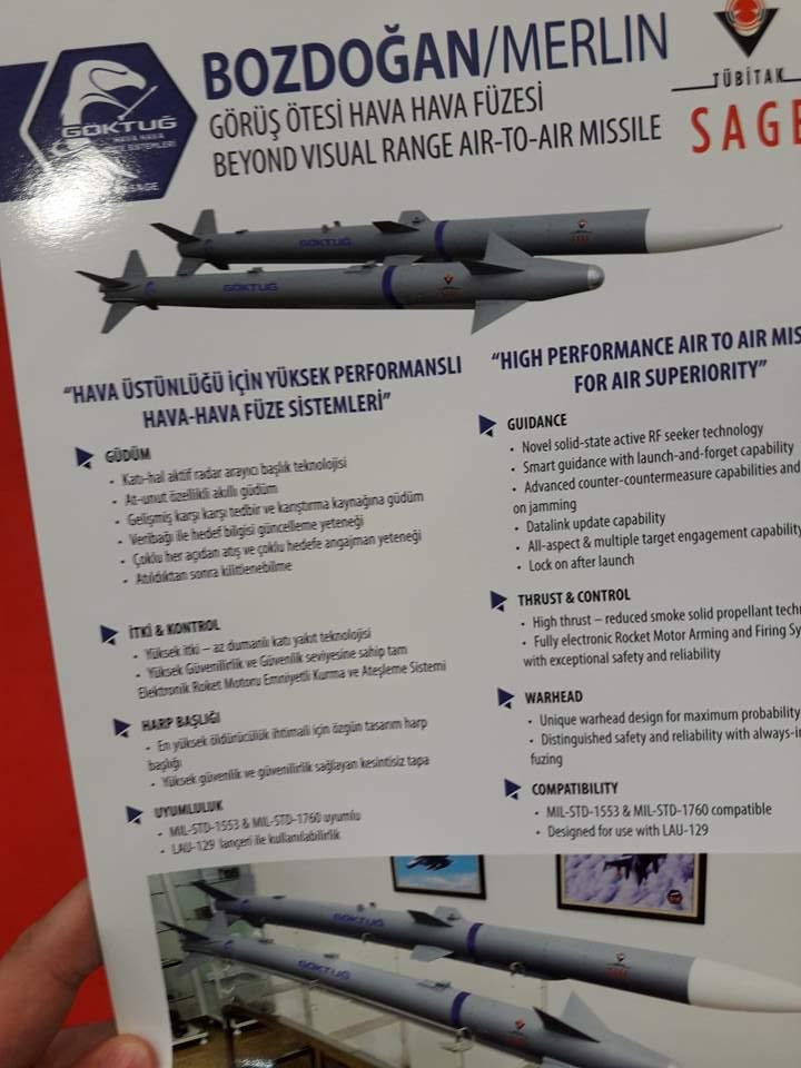 تركيا ستكشف عن صاروخين جو-جو يعملان على متن مقاتله F-16  QbzBZW