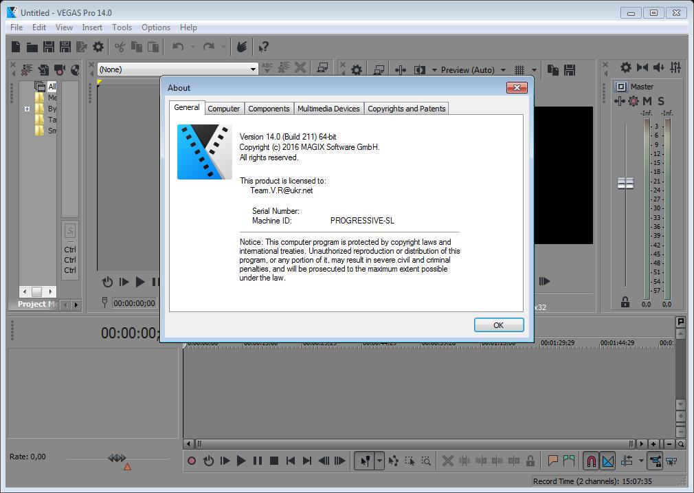 VEGAS Pro 14.0 Build 211 (x64) | Katılımsız