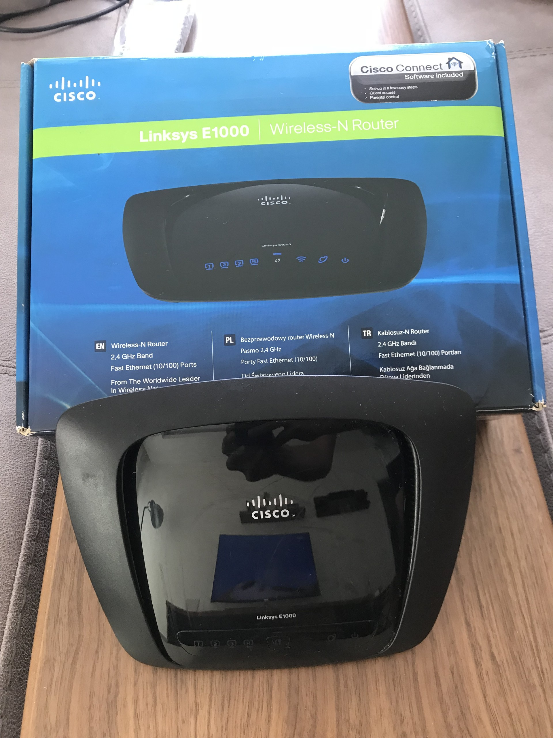 Satilik Linksys E1000 N Router Sayfa 1 Cisco Wireless Sorunsuzdur Kutusunda Duruyor Uzun Zamandr Kullanlmyor