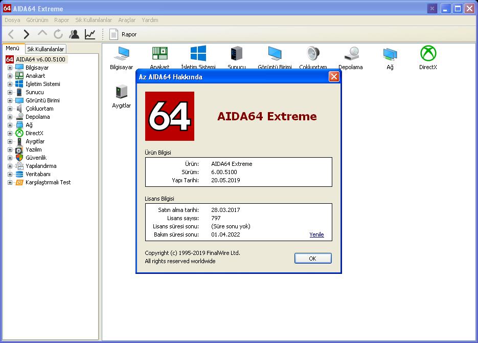 AIDA64 Extreme Edition 6.20.5300 | Katılımsız