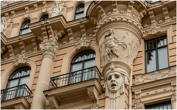 Art Nouveau tarzında binalar