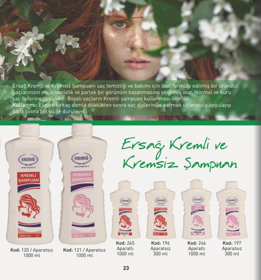Ersağ Kremli ve Kremsiz Şampuan