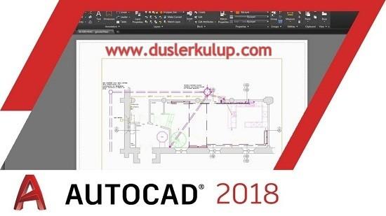 Autodesk Autocad 2018 Çizim Programını Orijinal İndir
