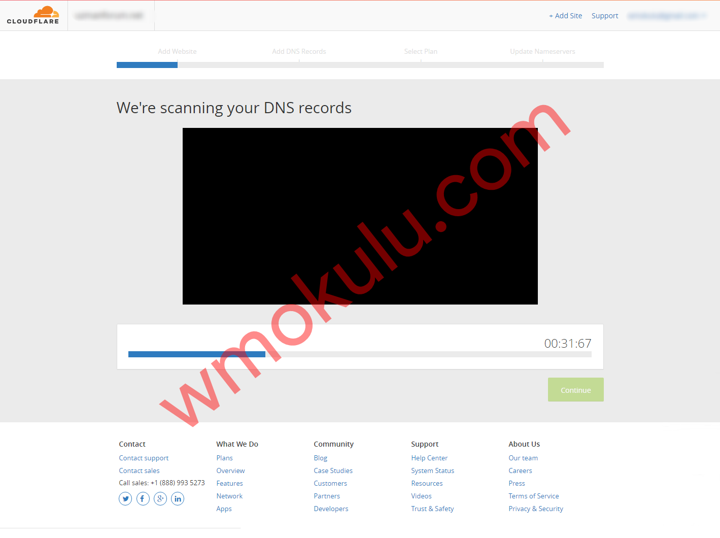 CloudFlare DNS Kayıt Tarama