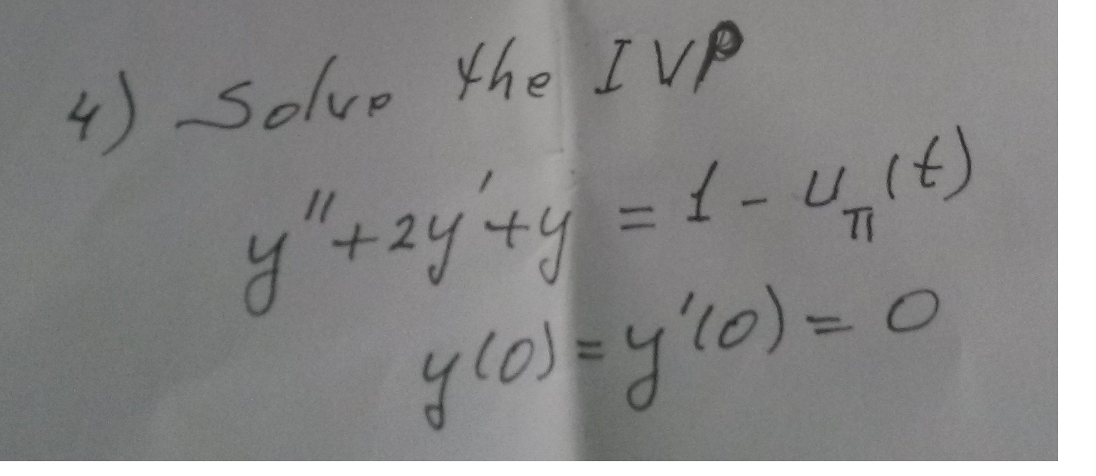 Solve the IVP y