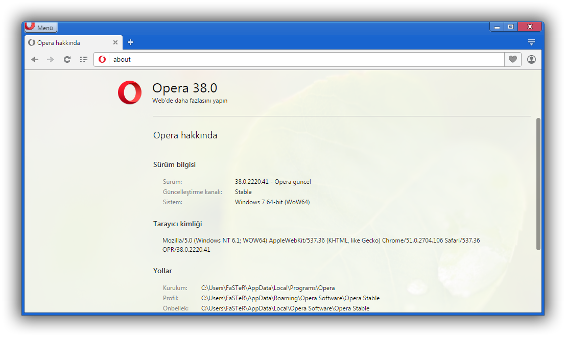 Opera 38.0.2220.41 Final TR | Katılımsız