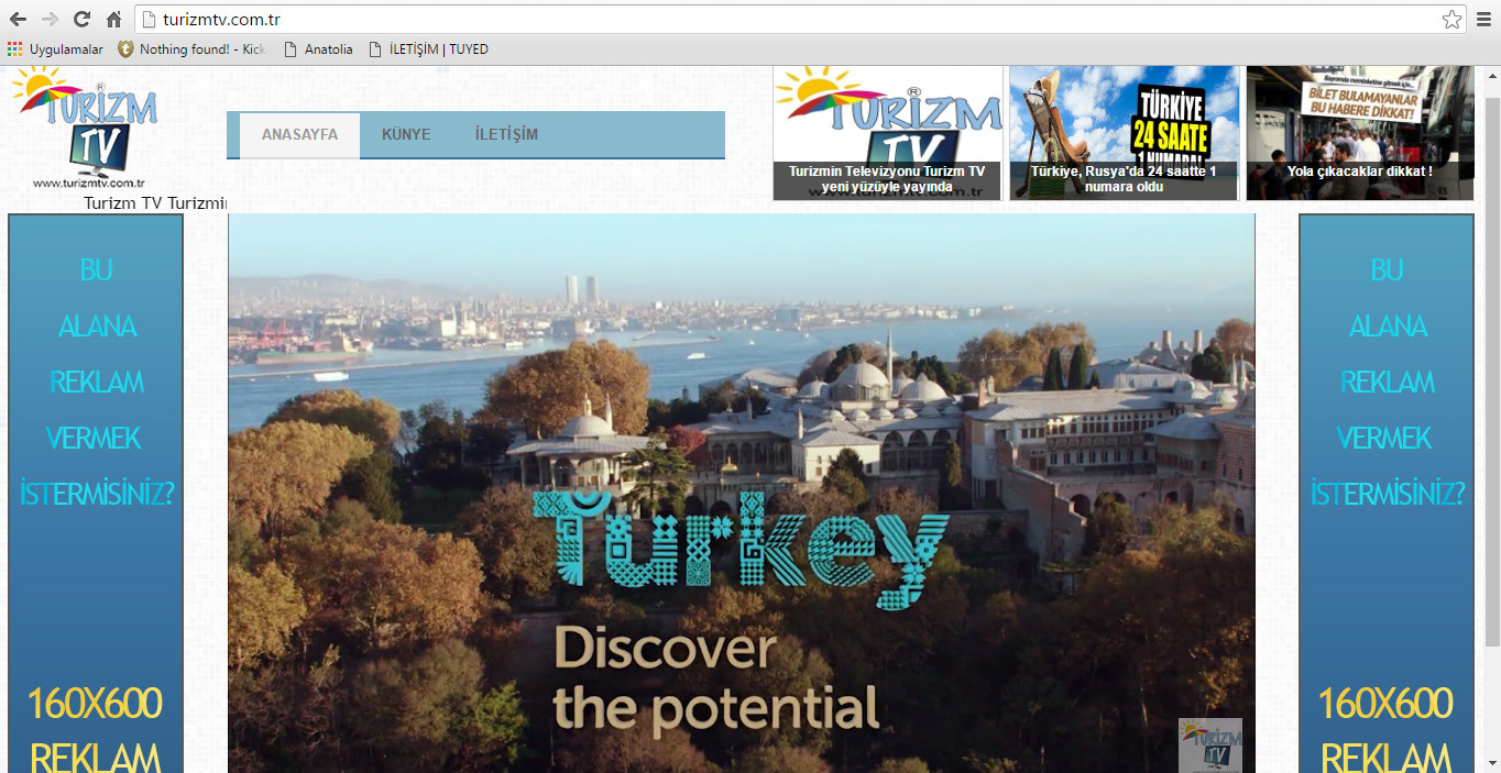 Come to Turkey for your dreams / Turizm Tv Tourism TV Tur TV Turizmin Televizyonu