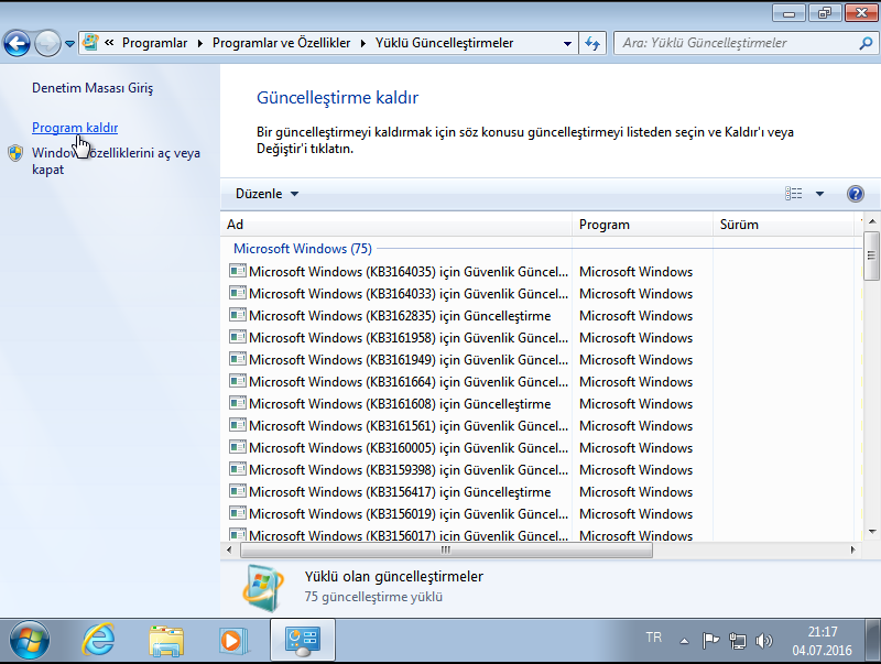 Microsoft Windows 7 SP1 AIO [HAZİRAN 2016 - Türkçe]