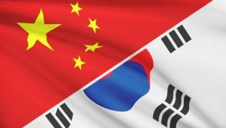 China, South Korea, Flag