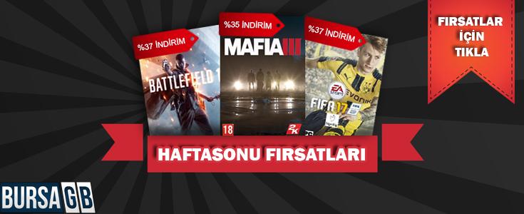 BursaGB'de Mafia 3, Battlefield 1 ve Fifa 17 oyunlarinda %40'a varan hafta sonu