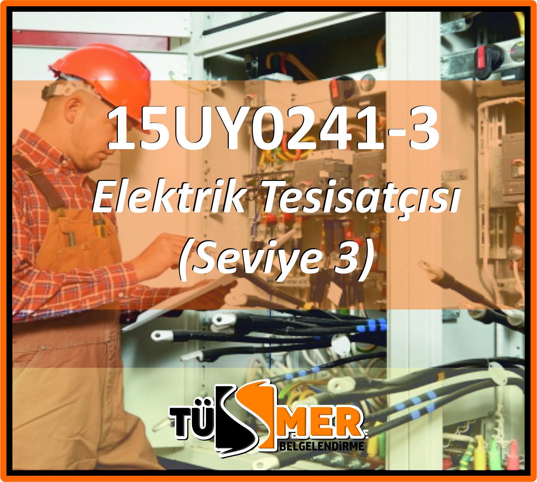 15UY0241-3 Elektrik Tesisatçısı (Seviye 3)