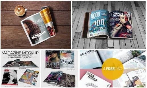 Magazine Mockup Set 4