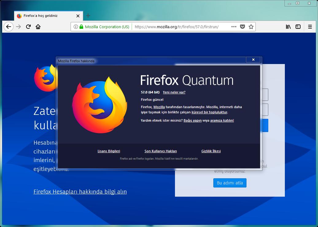 Mozilla Firefox Quantum 58.0.1 | EN-TR | Katılımsız