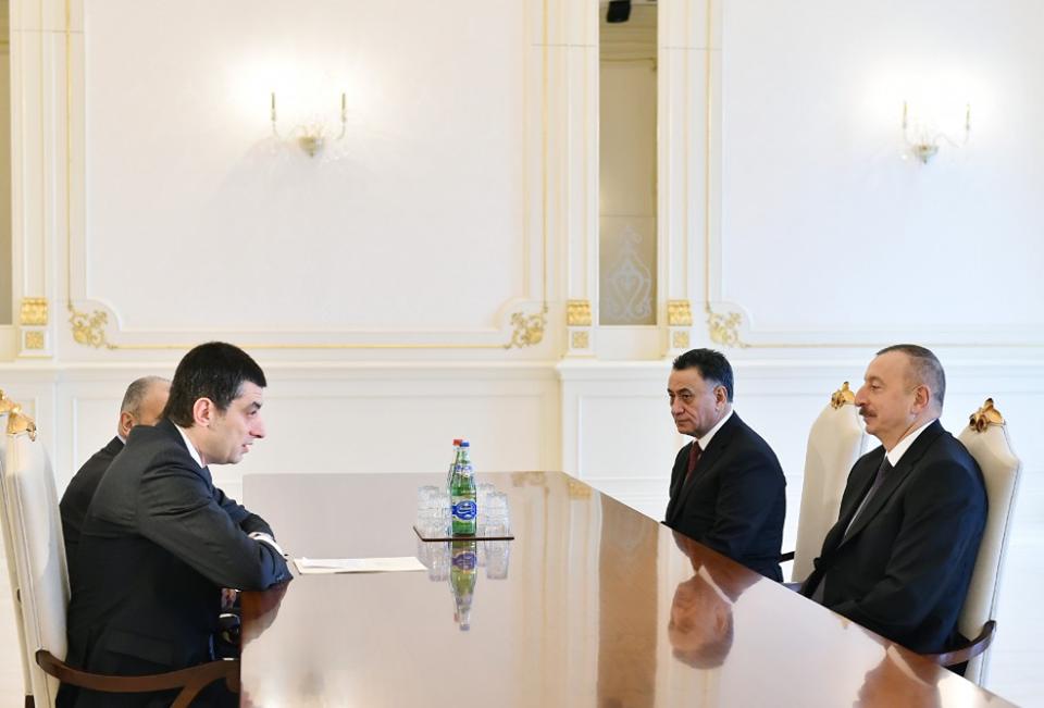 Prezident Gürcüstan baş nazirinin müavinini qəbul edib