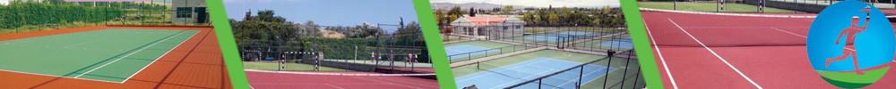 Artifcial grass Tartan Tennis Court contruction