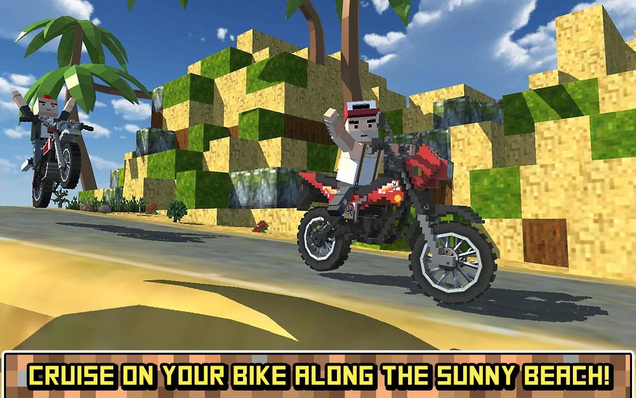 Blocky Moto Bike SIM: Summer Breeze Android İndir