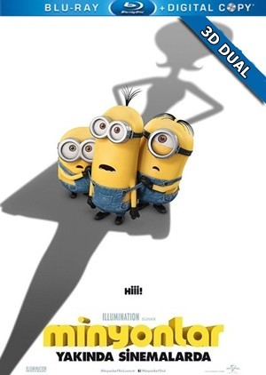 Minyonlar 3D – 3D Minions 2015 3D HALF-SBS BluRay 1080p Dual TR-EN – Tek Link