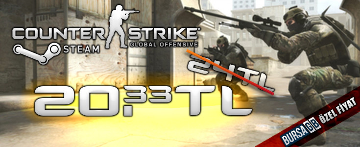 Counter-Strike: GO, BursaGB Özel Fiyatla Satista!