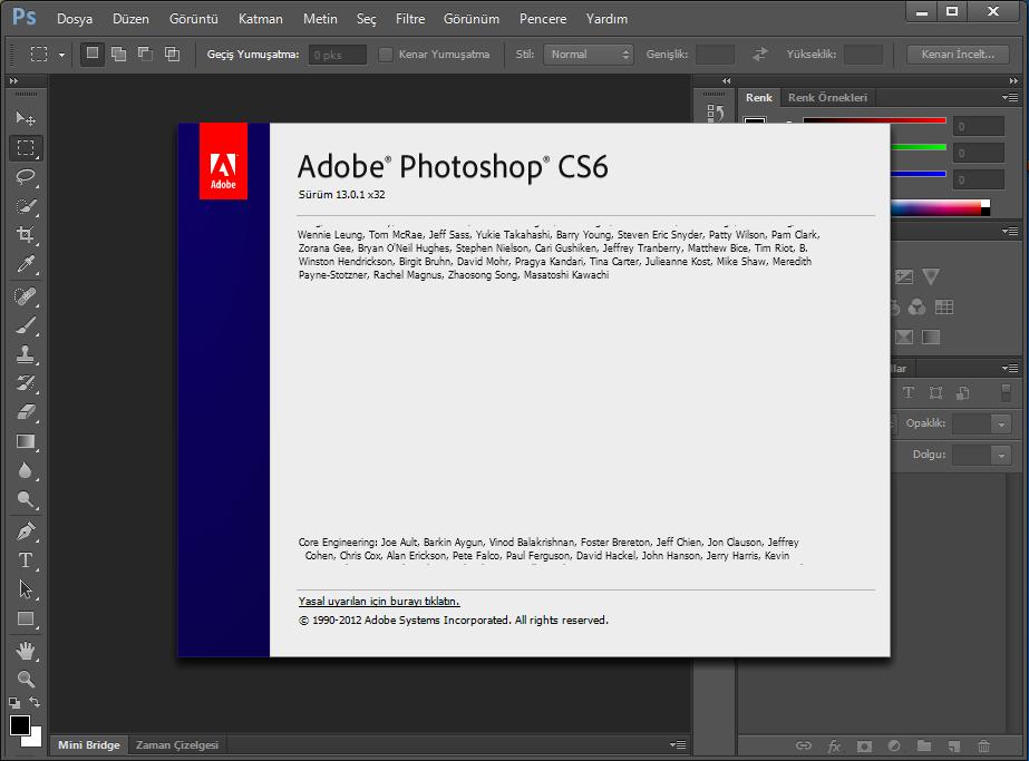 Adobe Photoshop CS6 13.0.1 [x86] Türkçe | Katılımsız