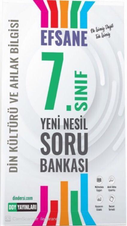 7.Sınıf Din Kültürü Efsane Yeni Nesil Soru Bankası DDY Yayınları