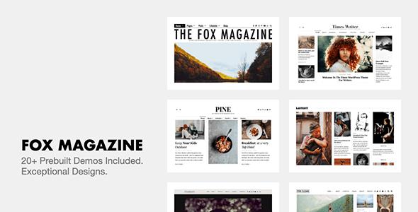 The Fox 4.6.9.1 - Minimal WordPress Blog Magazine Theme $59