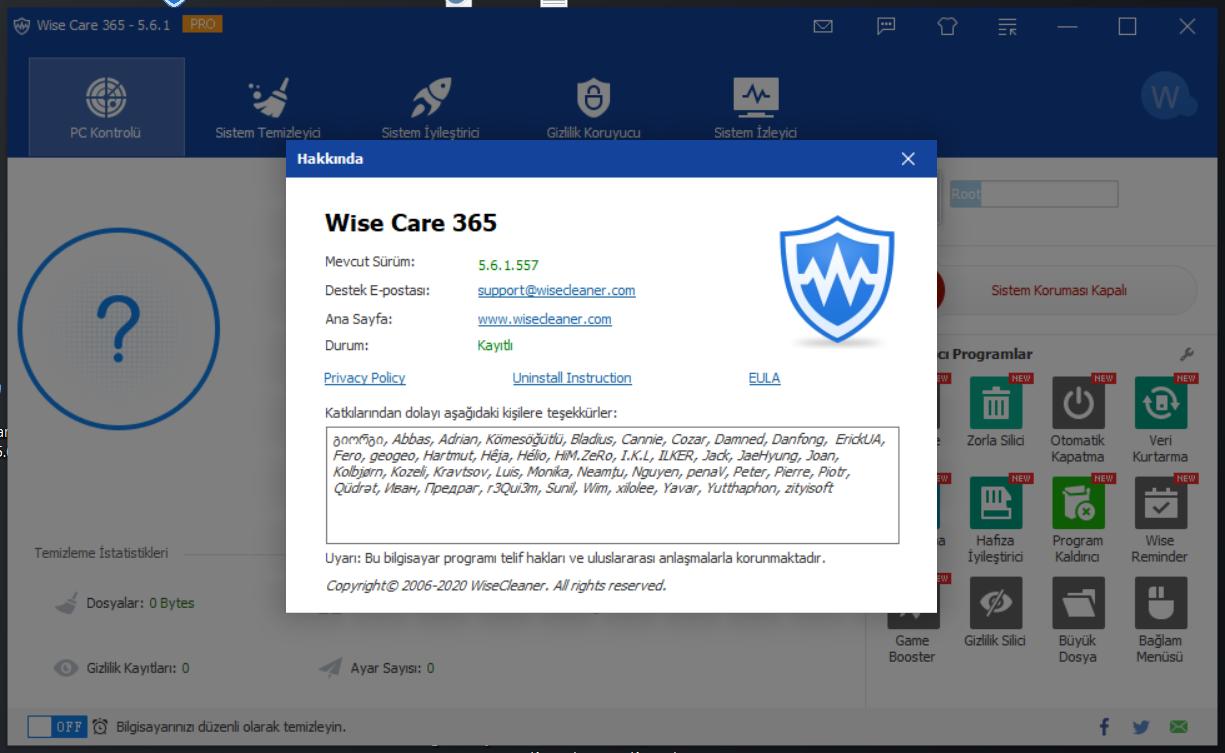 Wise Care 365 Pro 5.6.1 Build 557 | Katılımsız