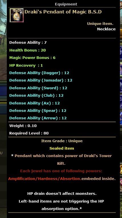 BSD Magic Draki ( 20healt 12 Anti 1 Hp Recovry