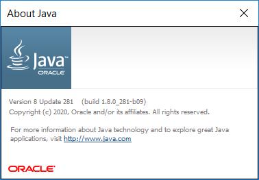 Java SE Runtime Environment (JRE) 8.0 Update 301 | Katılımsız