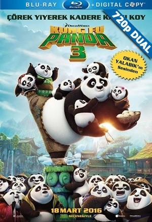 Kung Fu Panda 3 | 2016 | BluRay 720p x264 | DuaL TR-EN - Teklink indir