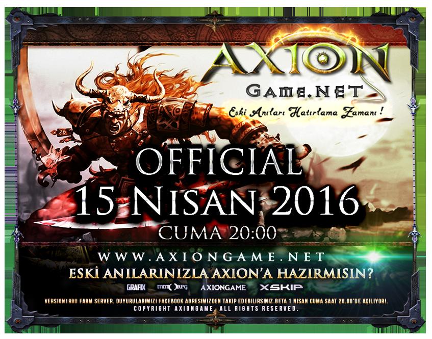 AxionGame OFFICIAL 15 Nisan 2016 Cuma 20:00 |v1980 Farm|Yeni Haritalar|�zel DB,Hediyeli Etkinlikler.