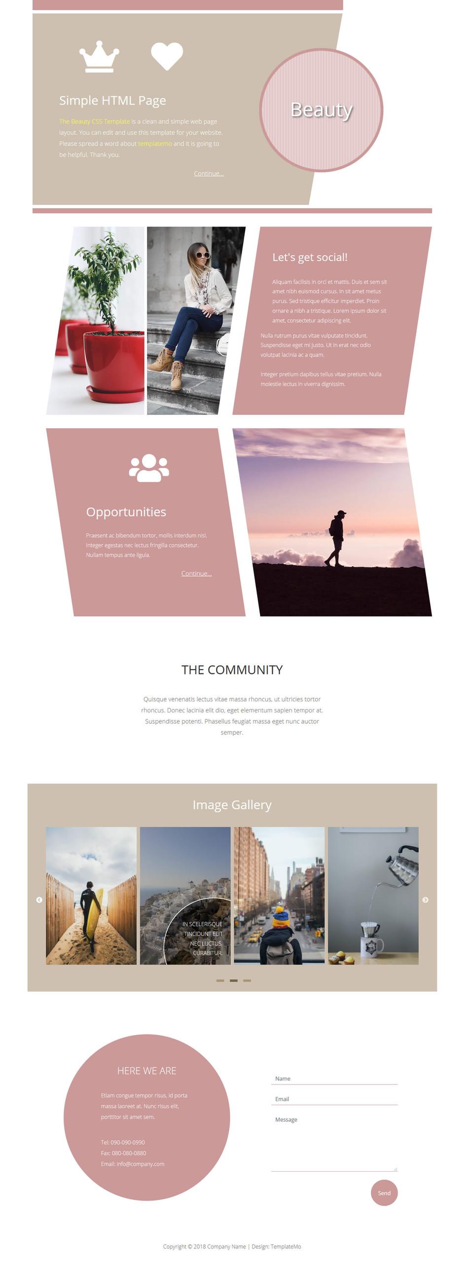 Ücretsiz Beauty HTML Şablonu
